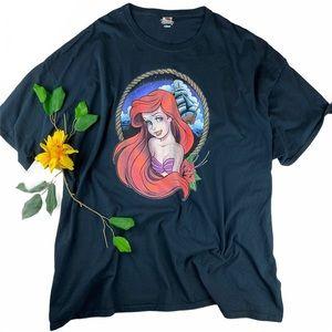 Unisex Disney Little Mermaid Fruit Loom T Shirt 4X